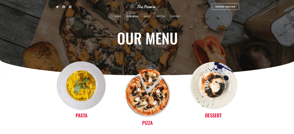 WpAstra - pizza delivery website template