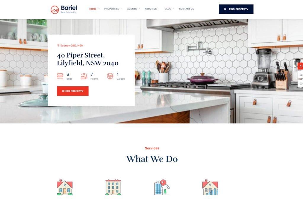 Bariel - property listing WordPress theme