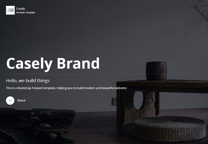 Casely - portfolio website template