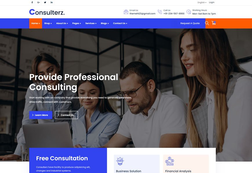 Consulterz - best consulting WordPress theme