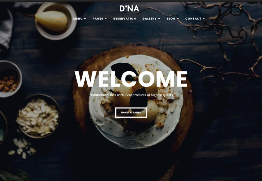 Dina - Pizza restaurants website template
