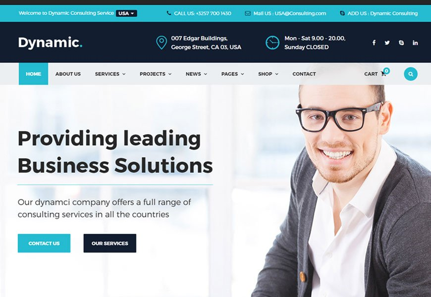 Dynamic - best consulting website templates