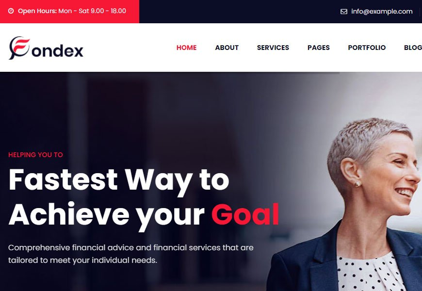 Fondex - business consulting website templates