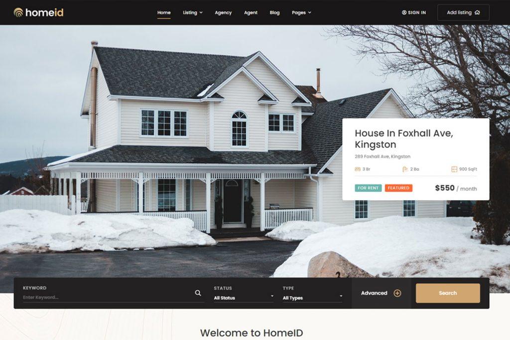 HomeID - property listing WordPress theme