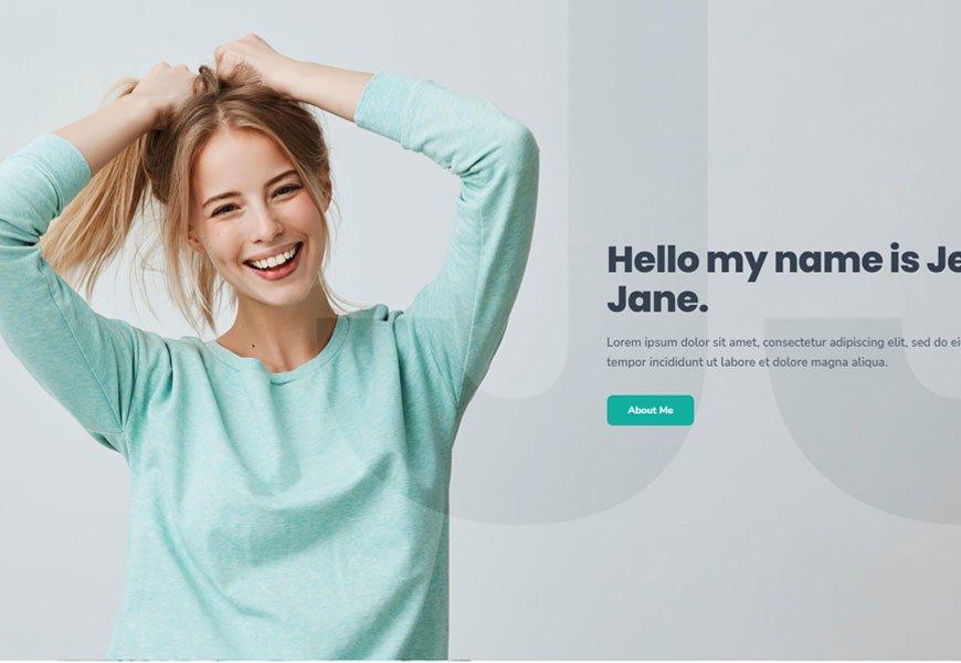 Jess - professional portfolio website template