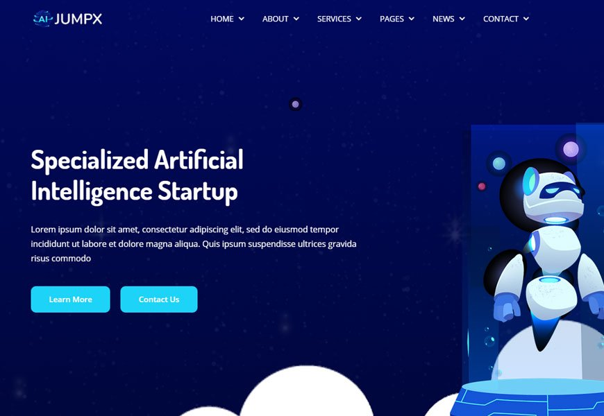 Jumpx - IT software company website template