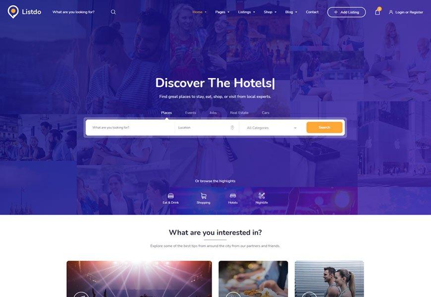 Listdo - listing website template