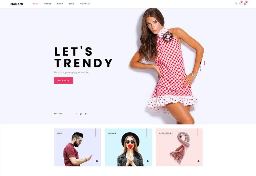 Manami - minimal WooCommerce theme