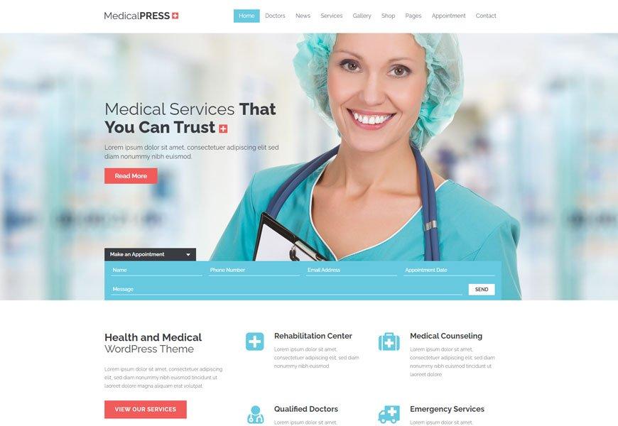MedicalPress - medical website template