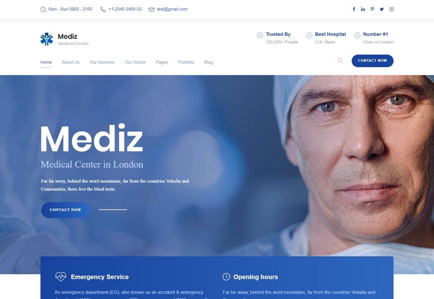 Mediz - doctors website template