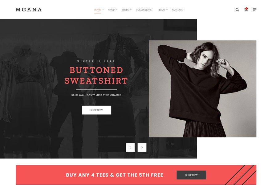 Mgana - minimal design wordpress theme