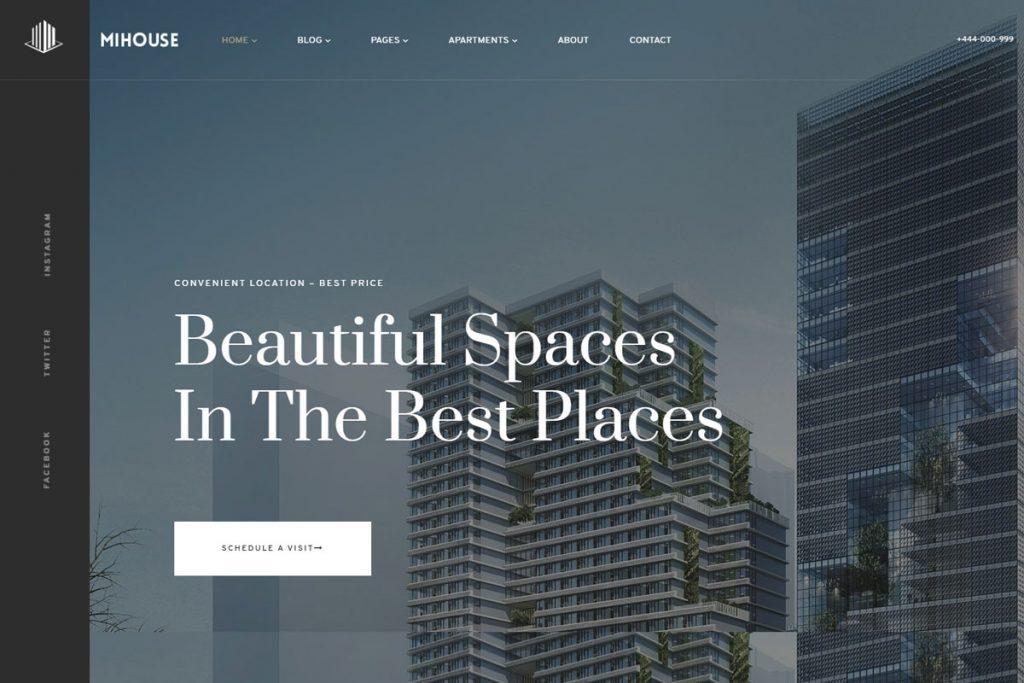 Mihouse - single property listing WordPress theme