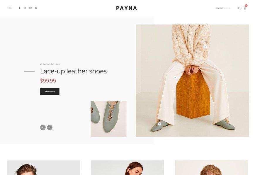 Payna - minimal woocommerce theme