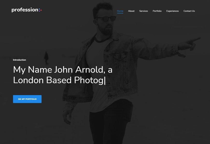 Profession - portfolio website template