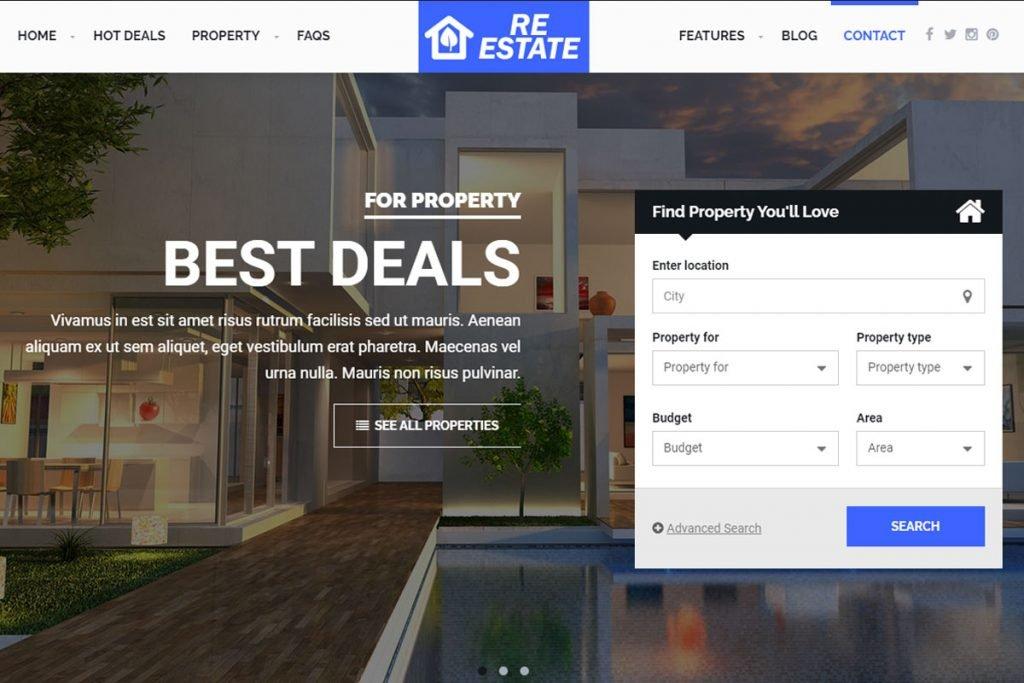 ReEstate - real estate listing WordPress theme