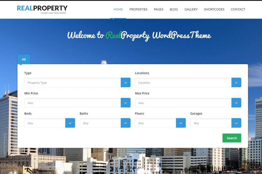 Real Property - real estate listing WordPress theme