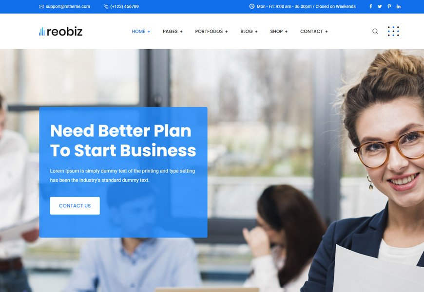 Reobiz - consulting business template