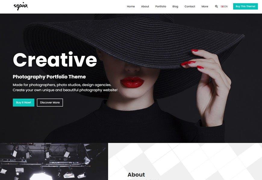 Sepia - portfolio website template