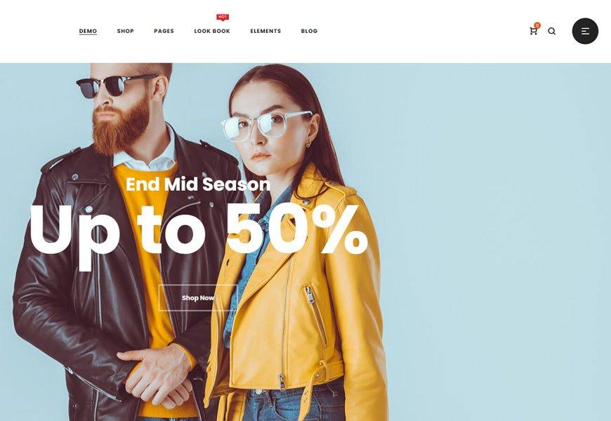 Zyra - best minimal design WooCommerce theme