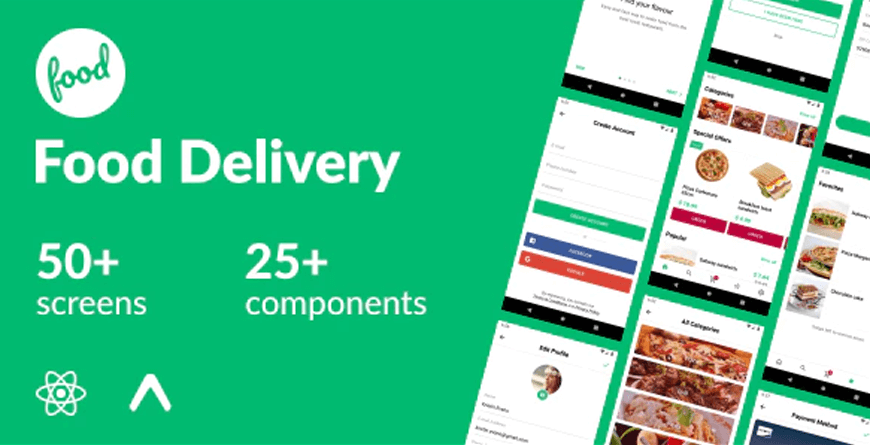 Food Delivery - React Native App Templates
