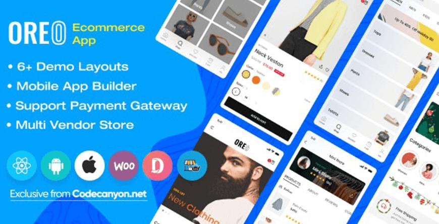 Oreo Fashion - Best React Native App Templates