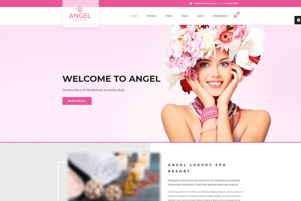Angel - beauty salon website template