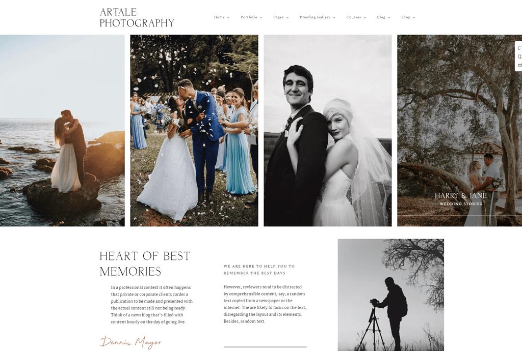 Artale - Wedding photography WordPress theme