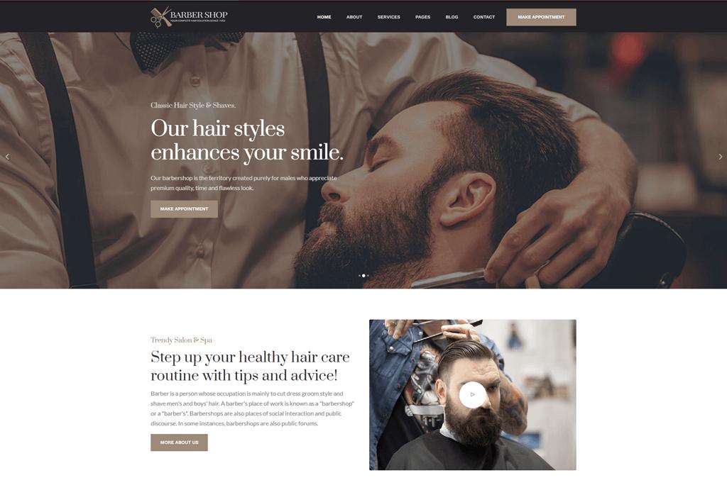 BarberShop - barbarshop website template