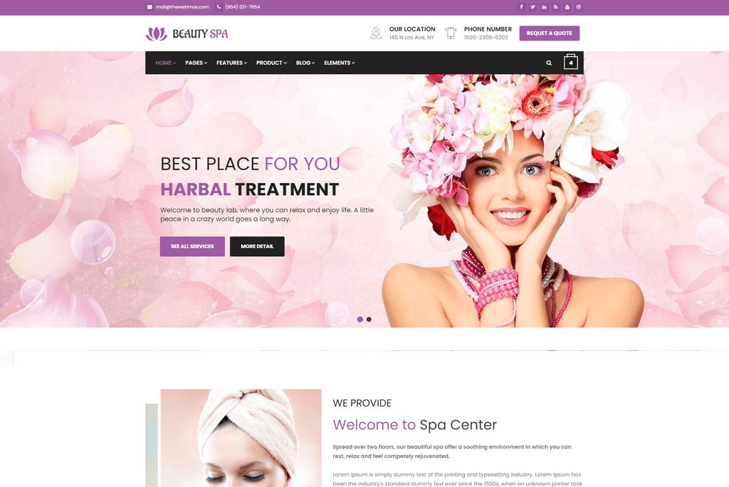 beautypress - salon website template