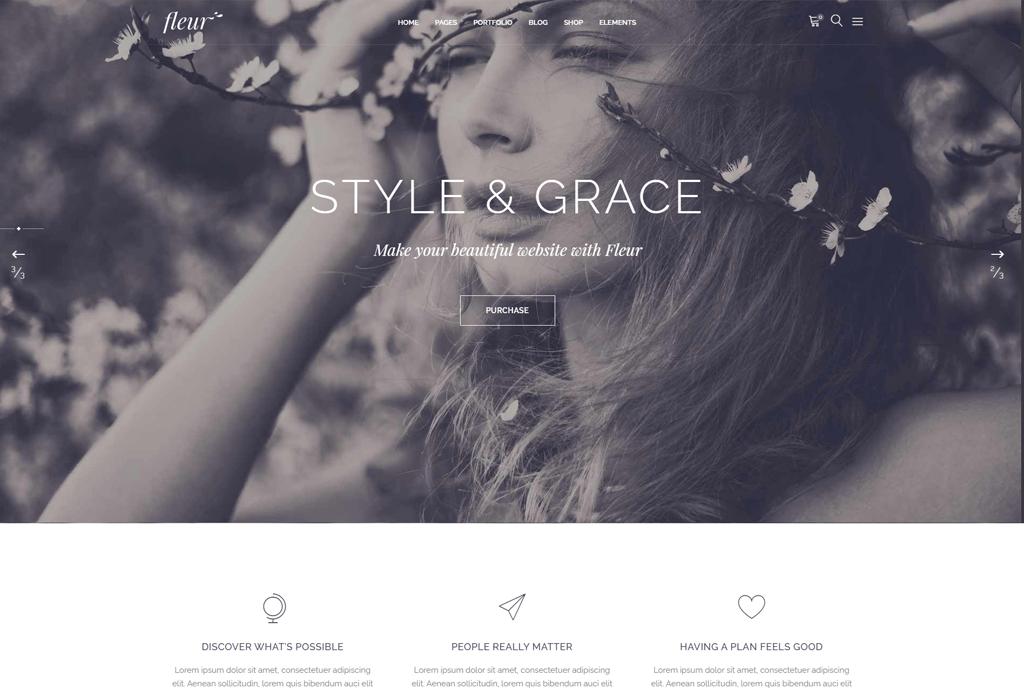 Fleur - Wedding WordPress theme