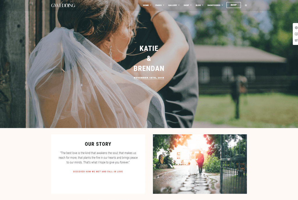 Grand Wedding WordPress theme