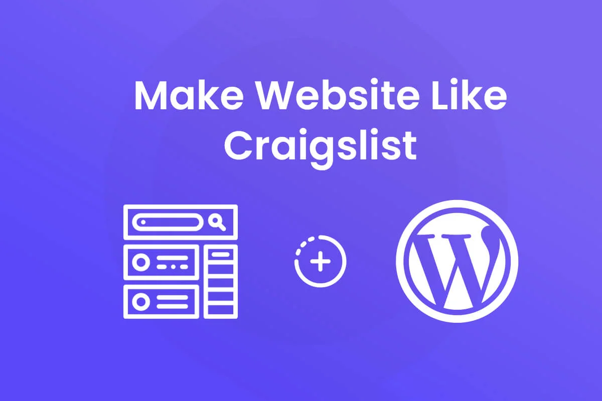 how to make website like craigslist