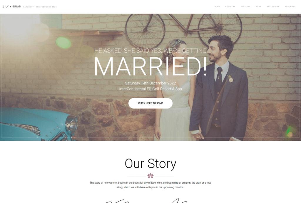 Lily - wedding planner WordPress theme