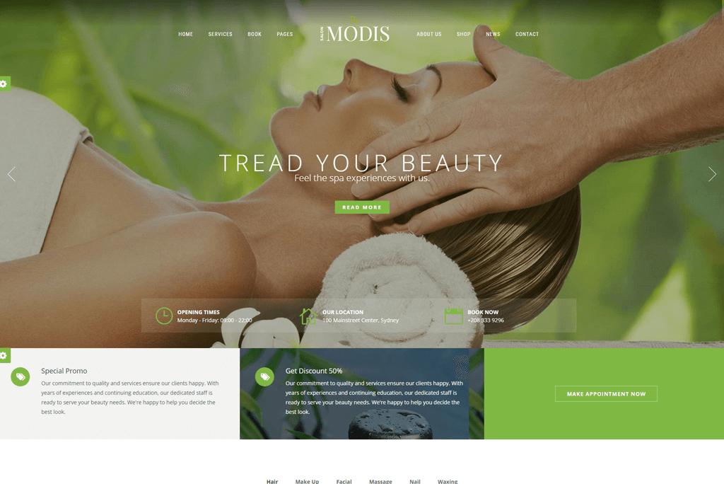Modis - beauty salon website template