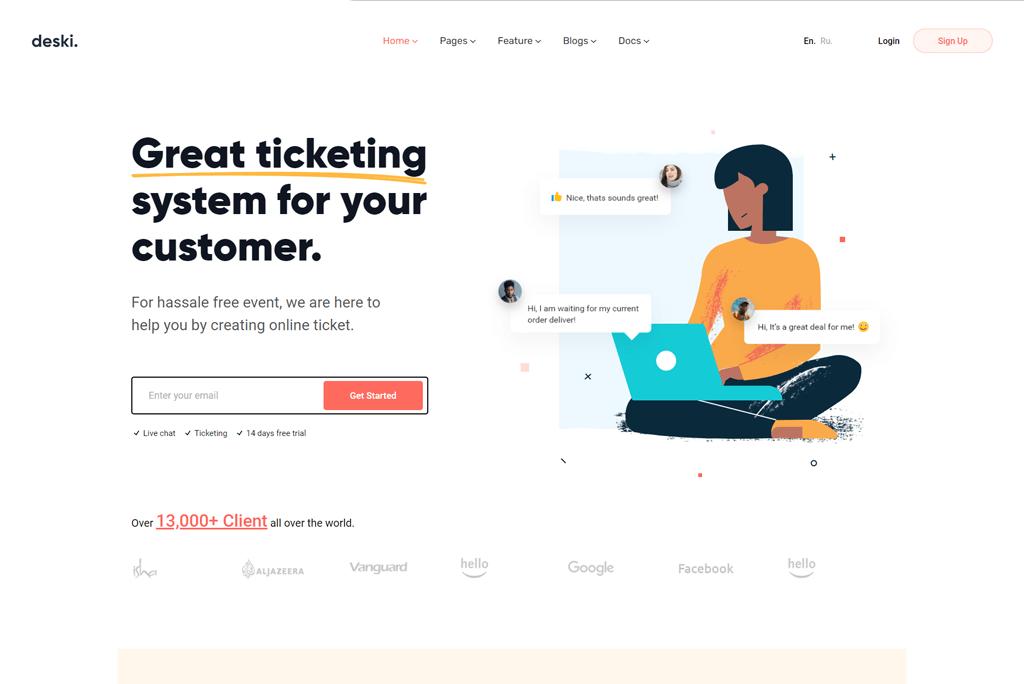 Deski  - best SaaS website template