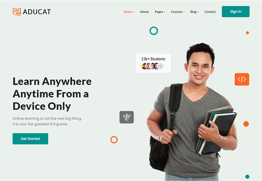 Aducat - eLearning website template