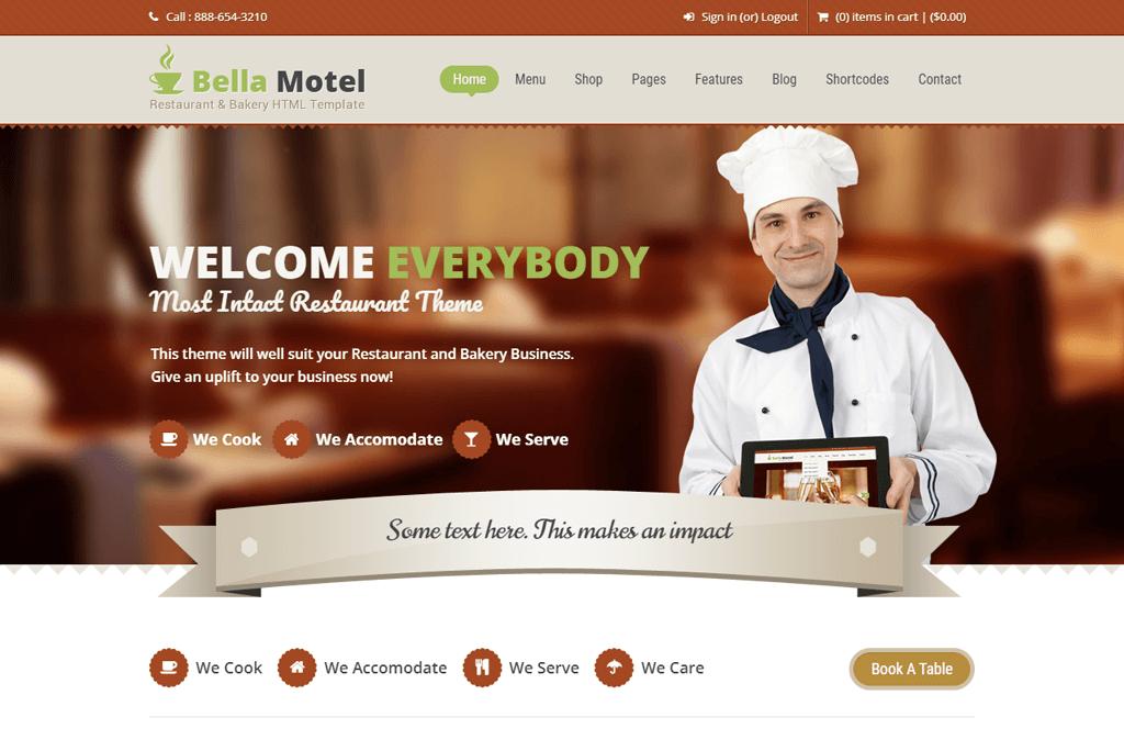 BellaMotel - recipe website templates