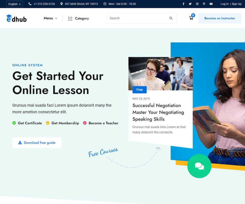 Edhub - eLearning website template