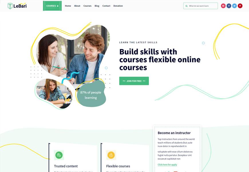 LeBari - eLearning website template