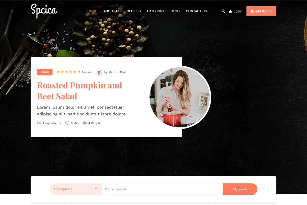 Spcica - cooking website template