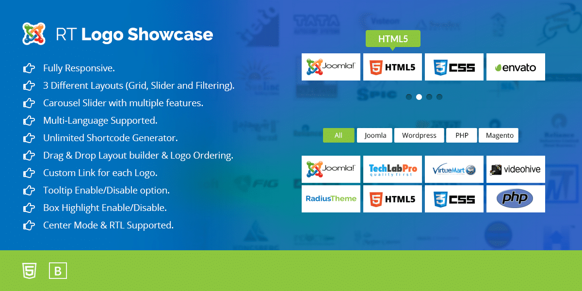 RT Logo Showcase & Slider for Joomla