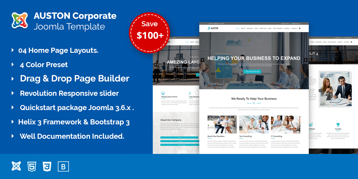 Auston – Finance, Corporate and Business Joomla Template