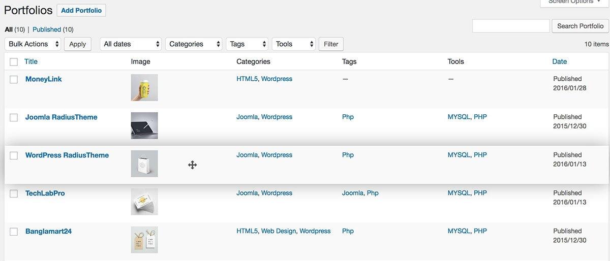 TLP Portfolio Pro for WordPress - RadiusTheme
