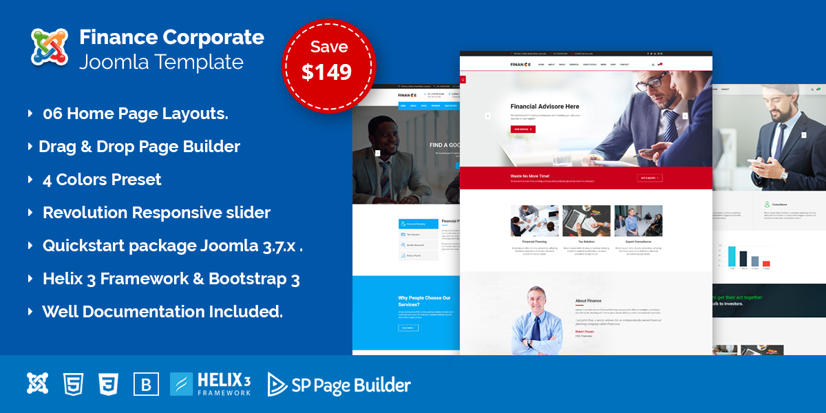 Finance – Finance, Corporate and Business Joomla Template