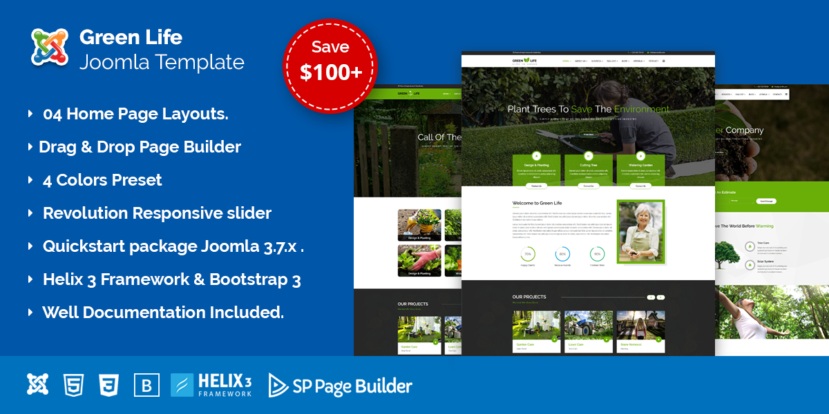 Greenlife – Gardening and Landscaping Joomla Template