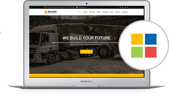 Builder construction company joomla template radiustheme builder comes with 4 pre define colors you can easily customize your own color pronofoot35fo Choice Image