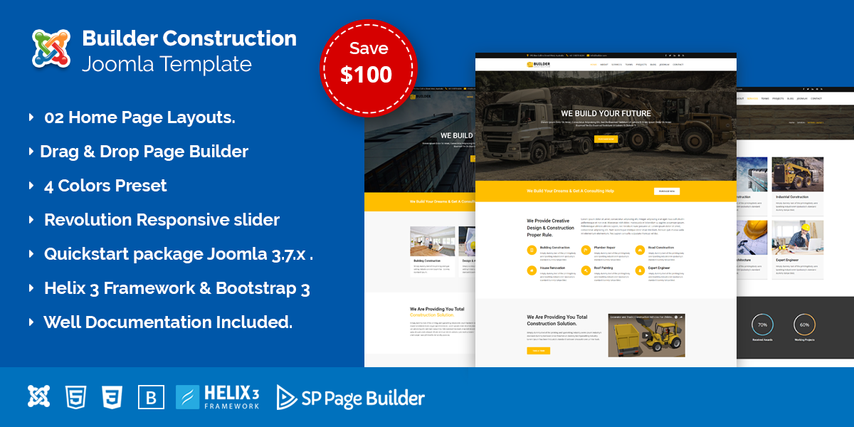 Builder – Construction Company Joomla Template