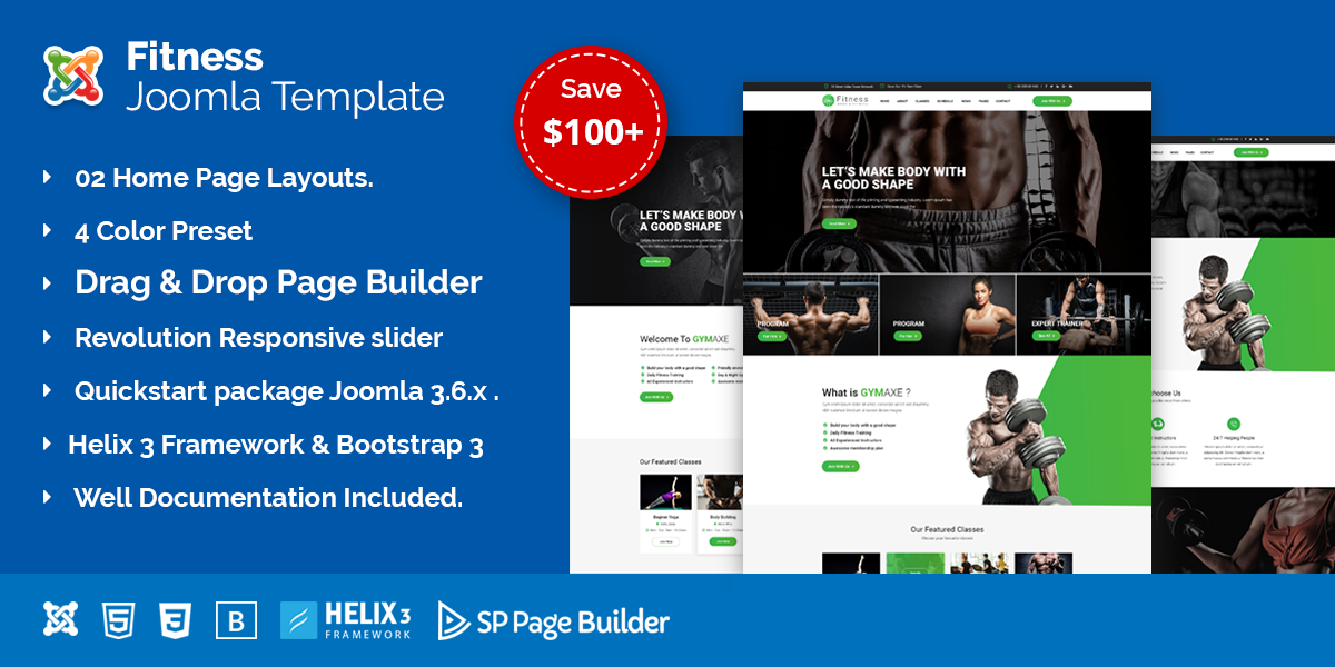 Fitness – Gym Fitness Joomla Template