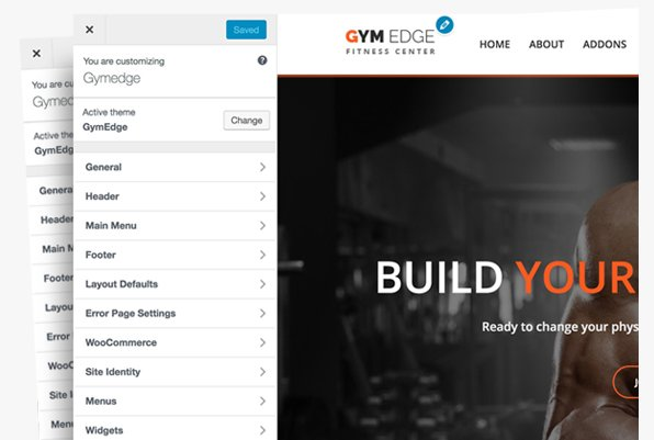 gym edge theme option