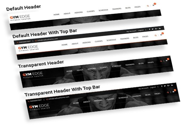 gym edge header layouts